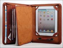 leather portfolio for Ipad, leather portfolio with tablet