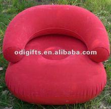 inflatable flocking sofa pvc flocking single arm chair PVC air fill chair