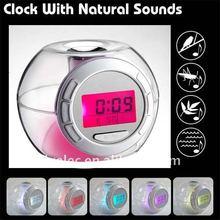 7 colour light Nature Sound Alarm Clock