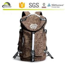 2015 In stock custom canvas school backpack bag