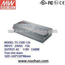 Meanwell 1500W True Sine Wave DC-AC Power Inverter 24v inverter/dc to ac inverter design circuit
