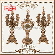 Antique decoration bronze candlestick candle holder set ZF919BK