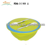 hot selling unbreakable plastic salad bowl set with lid