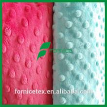 China Factory Poland Ultra soft minky fabric dot