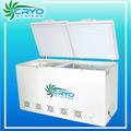 fabricantes de partição pequeno top dupla sólida porta dois baixo ruído profundo geladeira geladeira peito freezer congelados na china