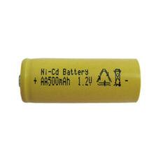 rechargeable 1.2v AA 600mAh nickel cadmium battery