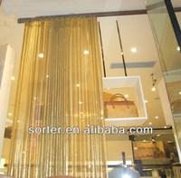 beautiful metallic cloth drapery for decoration