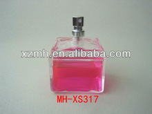 100ml square glass perfume bottle with sprayer