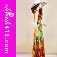 Multi colors wholesale plus size maxi dress