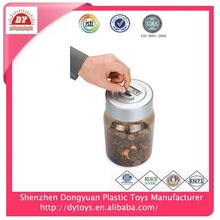 shenzhen plastic factory kids digital tin can plastic custom coin bank