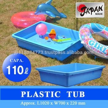 Plastic Tub water tank JAPAN MADE garden plaster DIY gold fish soil cement fertilizer kimchi animal bait PLASTIC TUB FP110 BL