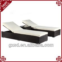 China Brand S&D Plastic Rattan Sunproof Handicraft Outdoor Beach Sun Lounger