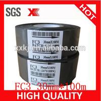 Black Fineray SCF-900 and FC3 date code printing foil /hot date batch coding foil30mm*100M
