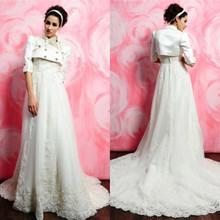 retro clssic novia de encaje bordado de manga larga vestidos de novia 2013