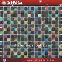 high quality ceramic mosaic tiles,glass mix stone mosaic guangdong foshan ShaFei