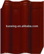 red color glazed ceramic roof tile for villa