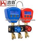 R22,R404A,R407C,R134A,R410A digital Manifold gauge