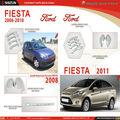 Accesorios ford fiesta parachoques delantero 2006-2011 ford fiesta kit del cuerpo