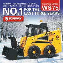 Best sale ! NO.1 brand new skid steer loader WS75 with snow blower, skid steer