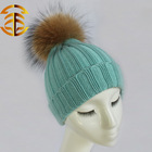 Latest design warm different color winter animal fur hat