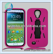 PC Silicone 2 in1 Protective Kickstand Case for Samsung Galaxy S4 i9500