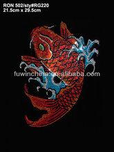 Custom Fashion design, Beautiful fish rhinestone design