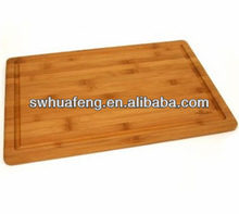 Bespoke square bamboo chopping board with water groove