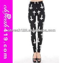 New popular cross design young ladies legging sexi