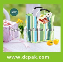 fashion aluminum handle shopping bag