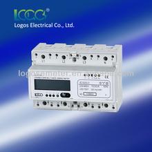 LOGOS Three Phase DIN rail Multi-rate Electronic Energy Meter, watt-hour meter,din rail watt-hour meter