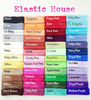 "5/8"" Fold Over Elastic - Bundle Pack - You Choose Color - 54 Colors Available - DIY Headband/Hair Ties/Hair Accessories Supplie"