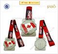 2014 años canadá logos en color plata premio medalla metal con logotipos personalizados en la cinta
