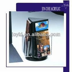 Rotating Acrylic Magazine/Propaganda/Brochure/Book Rack Holder/Pocket