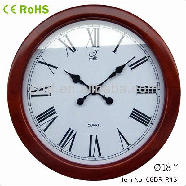 Large Decorative Wall Clocks Muslim Clock Round Wooden