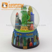 personalizado estatua de la libertad de diseño de bola de nieve