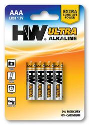 Ultra Power LR03 AAA AM4 1.5V Alkaline battery,High Power dry batteries (Hi-Watt Brand , 4/B)