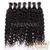 100% unprocessed human curly hair remy bulk hair for hair braiding
