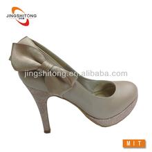High heel crystal bridal wedding shoes