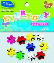 event & party Supplies type metallic confetti 6 petals flower confetti