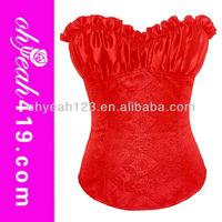 2014 New arrivals red hot sale mature women sexy lingerie corset
