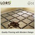 設計されたメイプルクルミの寄木張りの床