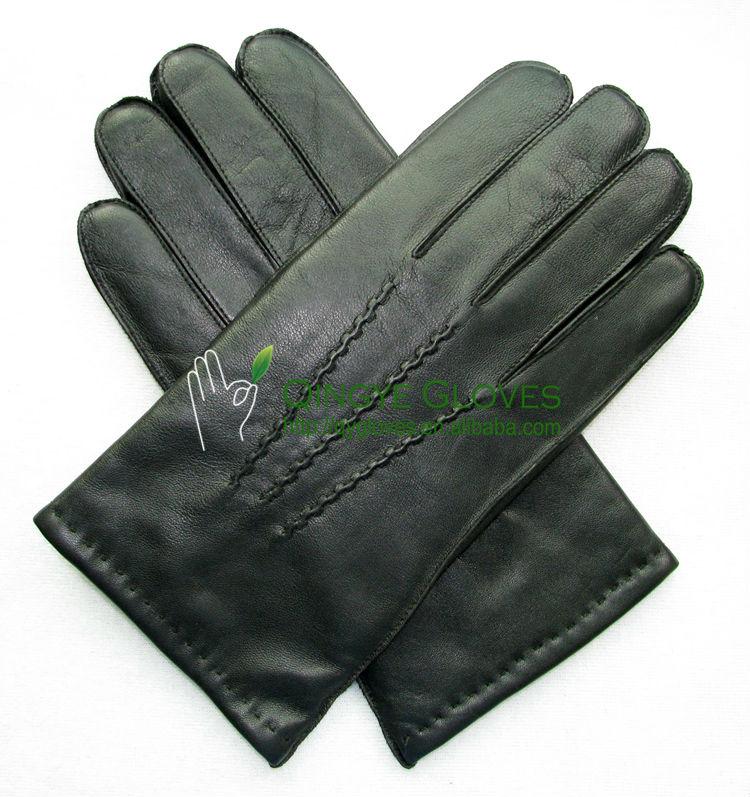 ผู้ชายคลาสสิกhairsheepหนังถุงมือ, มือตะเข็บบนข้อมือ
