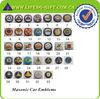 Wholesale Masonic Items 3'' Masonic Car Emblems With Red Adhesive