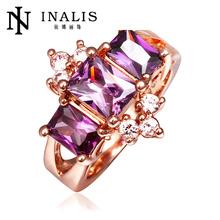 Lekani Wholesale Princess Cut Gemstone Finger Amethyst Ring