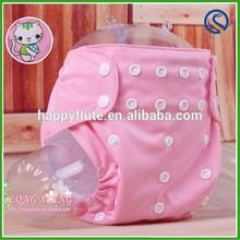 2015happyflute new cloth diaper,pink cat print dotted,cat print diaper cloth,free size diaper cloth,wholesale all seasons
