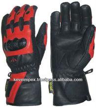 Top quality genuine cow hide leather custom motorbike racing gloves , Mens & ladies sizes , 2015