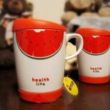 China manufacturer factory direct wholesale business gift item eco ware ceramic fruit shaped mugs