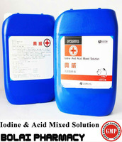 iodine and Acid mixed solution fighting cock