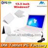 China Manufacturer 13.3 '' intel win 7 laptop brand new famous laptop windows ce paypal used computer in japan