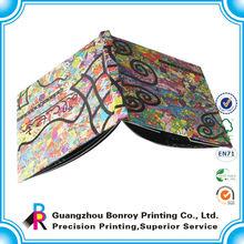 Custom cheap coloring full color journal hardcover book printing